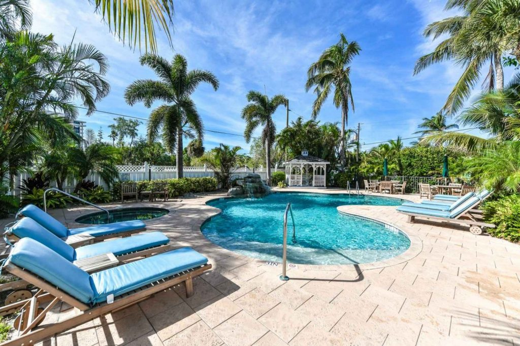 pool on tropical breeze resort