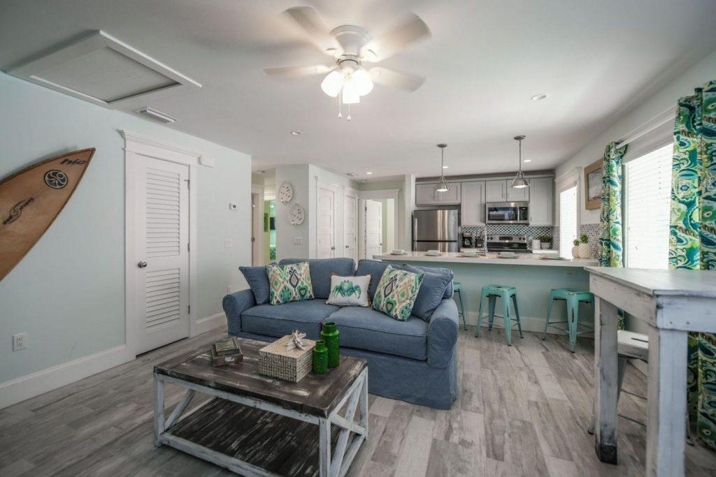Living area in Siesta key hotel rental