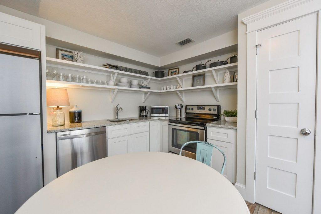 Kitchen of 2 bedroom hotel room in Siesta Key, FL